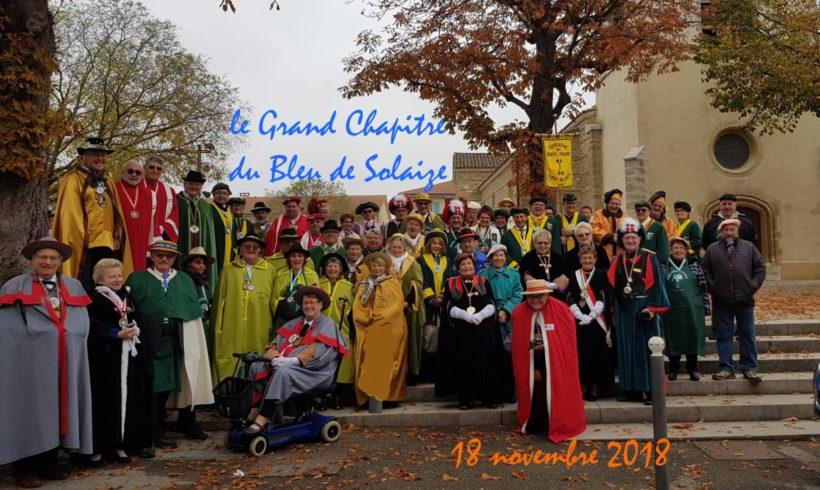 Grand Chapitre du bleu de solaize le 18/11/2018.